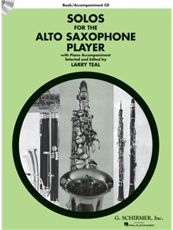 Solos For The Alto Saxophone Player (Arr. Larry Teal) Book/CD Books and CDs | Alto Saxophone