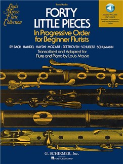 Forty Little Pieces (Book/Online Audio) Books and Digital Audio | Flute, Piano Accompaniment