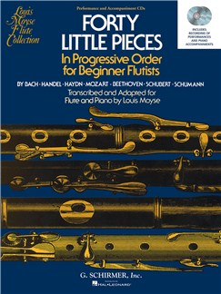 Forty Little Pieces In Progressive Order for Beginnner Flutists - Performance and Accompaniment CDs CDs | Flute, Piano Accompaniment