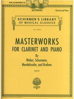 Masterworks For Clarinet And Piano (Book/Online Audio) Books and Digital Audio | Clarinet, Piano Accompaniment