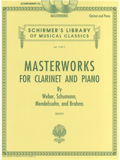 Masterworks for Clarinet and Piano (Accompaniment CDs) CDs | Clarinet, Piano Accompaniment