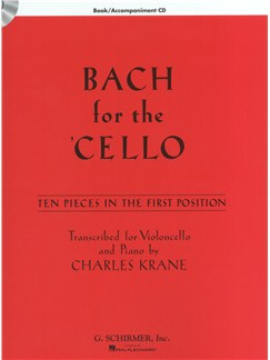 J.S. Bach: Bach For The Cello - 10 Easy Pieces In 1st Position (Book/Online Audio) Books and Digital Audio | Cello