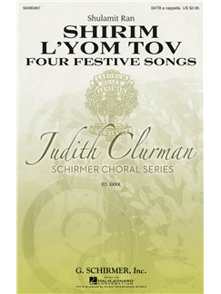 Shulamit Ran: Shirim L'Yom Tov – Four Festive Songs Books | Choral, SATB