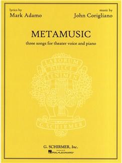 John Corigliano: Metamusic - Three Songs For Theater Voice And Piano Books | Voice, Piano Accompaniment