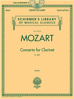 W.A. Mozart: Concerto For Clarinet K.622 - Clarinet/Piano (Book/CD) Books and CDs | Clarinet, Piano Accompaniment