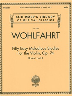 Franz Wohlfahrt: Fifty Easy Melodious Studies For The Violin, Op. 74, Books 1 And 2 Books | Violin