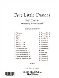Paul Creston: Five Little Dances (Arr. Robert Longfield) Books | Big Band & Concert Band