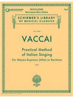 Practical Method Of Italian Singing: For Mezzo-Soprano (Alto) Or Baritone (Book/Online Audio) Books and Digital Audio | Mezzo-Soprano, Baritone Voice