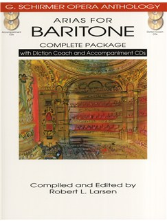 Arias For Baritone - Complete Package Books and CDs | Baritone Voice, Piano Accompaniment