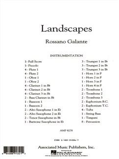 Rossano Galante: Landscapes Books | Big Band & Concert Band