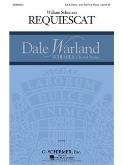 William Schuman: Requiescat Books   Choral, SATB