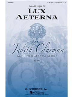 Ivo Antognini: Lux Aeterna Books | Choral, SATB