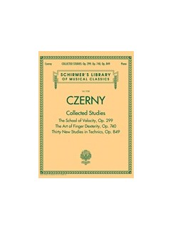 Schirmer's Library of Musical Classics - Czerny: Collected Studies – Op. 299, Op. 740, Op. 849 Books | Piano