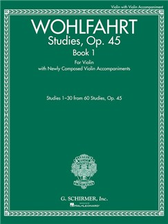 Franz Wohlfahrt: Studies, Op. 45 – Book I Books | Violin Duet