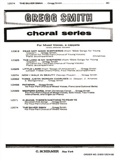 Gregg Smith: The Silver Swan Books | Choral, SATB