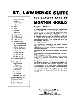 Morton Gould: St. Lawrence Suite Books | Big Band & Concert Band