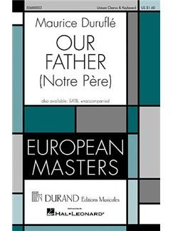 Maurice Duruflé: Our Father (Unison) Books | Unison Voice