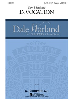 Steve Sandberg: Invocation Books | Choral, SATB
