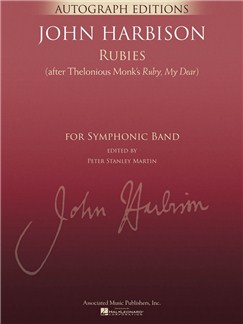 John Harbison: Rubies (After Thelonious Monk's 'Ruby, My Dear') Books | Orchestra