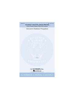 Giovanni Battista Pergolesi: Stabat Mater (First Movement) (SA) Books | SA