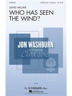 David Archer: Who Has Seen The Wind? Books | SATB