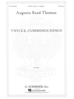 Augusta Read Thomas: Two E.E. Cummings Songs Books | SSAA