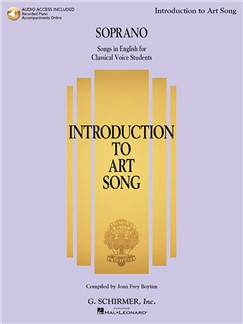 Introduction To Art Song For Soprano (Book/Online Audio) Books and Digital Audio | Soprano