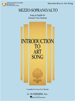 Introduction To Art Song For Mezzo-Soprano/Alto (Book/Online Audio) Books and Digital Audio | Mezzo-Soprano, Alto