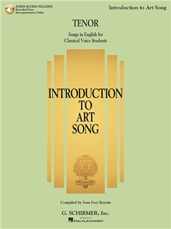 Introduction To Art Song For Tenor (Book/Online Audio) Books and Digital Audio | Tenor