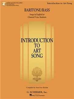 Introduction To Art Song For Baritone/Bass (Book/Online Audio) Books and Digital Audio | Baritone Voice, Bass Voice