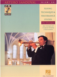 Sandoval: Playing Techniques And Performance Studies Volume 1 CD et Livre | Trompette