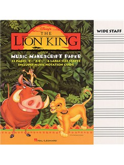 The Lion King Music Manuscript Paper Books |