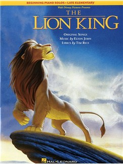 The Lion King Beginning Piano Solos Late Elementary Books | Piano