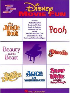 Disney Movie Fun (5 Finger Piano) Books | Piano, Voice