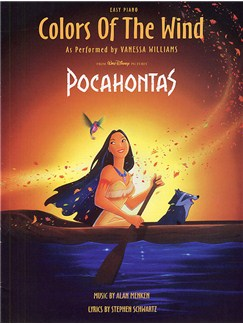 Alan Menken: Colors Of The Wind (Pocahontas) - Easy Piano Books | Piano with lyrics and chord symbols