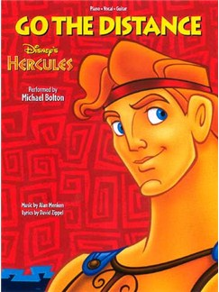 Alan Menken: Go The Distance (Hercules) Books | Piano, Vocal & Guitar (with Chord Boxes)