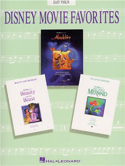 Disney Movie Favorites Instrumental Solo Easy Violin Books | Violin