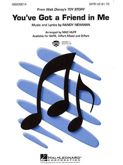 Randy Newman: You've Got A Friend In Me (SATB) Livre | SATB, Accompagnement Piano