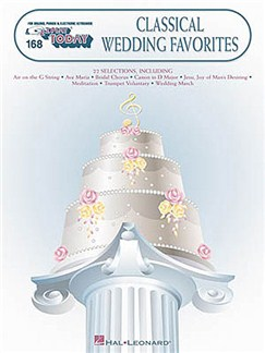 E-Z Play Today 168: Classical Wedding Favorites Books | Melody line & lyrics, with chord symbols