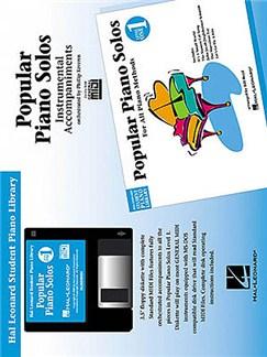 Hal Leonard Student Piano Library: Popular Piano Solos Level 1<br> Instrumental Accompaniments (Disk) CD-Roms / DVD-Roms   Piano