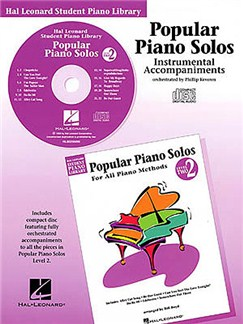 Hal Leonard Student Piano Library: Popular Piano Solos Level 2<br> Instrumental Accompaniments (CD) CDs | Piano