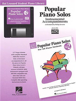 Hal Leonard Student Piano Library: Popular Piano Solos Level 2<br> Instrumental Accompaniments (Disk) CD-Roms / DVD-Roms | Piano