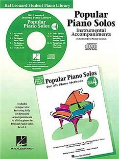 Hal Leonard Student Piano Library: Popular Piano Solos Level 4<br> Instrumental Accompaniments (CD) CDs | Piano