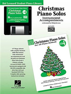 Hal Leonard Student Piano Library: Christmas Piano Solos Level 4 (GM Disk) CD-Roms / DVD-Roms | Piano
