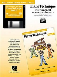 Hal Leonard Student Piano Library: Piano Technique Book 3 (GM Disk) CD-Roms / DVD-Roms | Piano