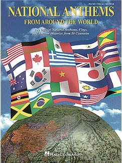 National Anthems From Around The World Books | Piano and Voice, with Guitar chord boxes
