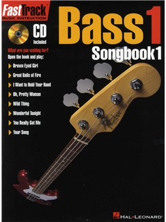 Fast Track: Bass 1 - Songbook One Books and CDs | Bass Guitar, Band Tab, with chord symbols