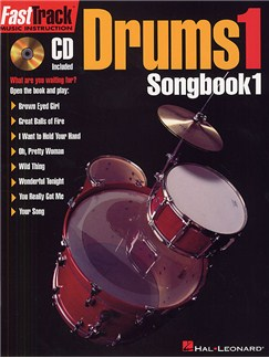 Fast Track: Drums 1 - Songbook One Books and CDs | Drums