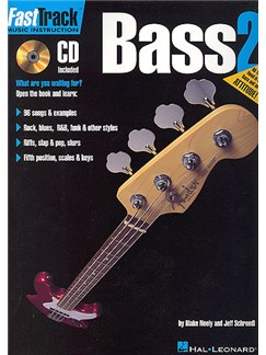 Fast Track: Bass - Book Two CD et Livre | Tablature Basse (Symboles d'Accords)