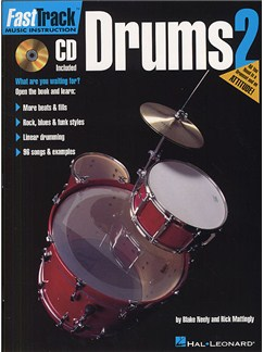Fast Track: Drums - Book Two Books and CDs | Drums